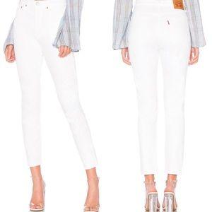 Levi's   501 Skinny White High Rise Jeans 28